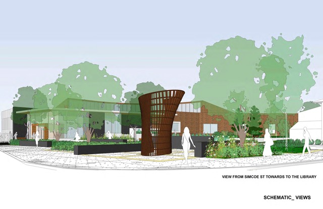 Simcoe Aylmer Square to be named 'LIBRARY COMMONS'